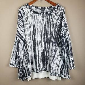 Chelsea & Theodore Layered Sweater Size 2X